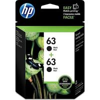 HP 63 2-pack Black Original Ink Cartridges - Free Next Business Day Delivery