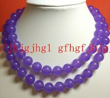 12mm natural lavender purple jade bead necklace 18-100inch