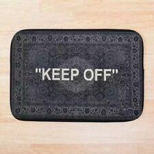 "Virgil Abloh x MARKERAD ""Keep OFF"" Rug Bath Mat Doormat Black Entrance Floor"