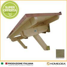 Pensilina / tettoia legno in abete massello 200 x 120 cm completo di ferramenta