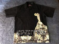 mens large vintage Led Zeppelin DragonFly Clothing Co. black short sleeve shirt