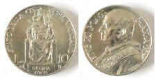 VATICANO -  Pio XI - 10 lire 1931 - Argento