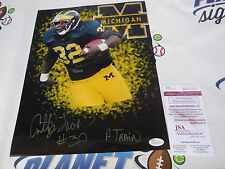 Anthony Thomas A-Train signed Michigan Wolverines UM 11x14 photo JSA COA Bears
