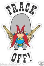 FRACK OFF! GOLD GUNS HARD HAT STICKER HELMET STICKER OILFIELD TRASH STICKER
