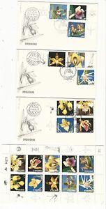 Venezuela: 1991; Sc 1447 sheet of 10 + F.D.C, 3 diff. thematic orchids. VS0129