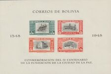 Bolivia 1951 Souvenir Sheet #C147b 400th Anniv. of La Paz - MH