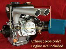 Dual Header Pipe for Predator 212cc, Honda GX160, GX200, mini bikes, gokarts...