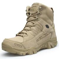 Mens Tactical Boots Outdoor Hiking Climbing Army Shoes Anti-skid Wear Resistant
