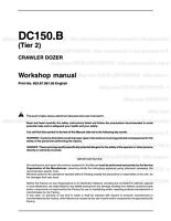 New Holland DC150B Tier2 Crawler Dozer Printed Repair Service Workshop Manual
