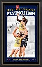 Nic Naitanui SIGNED AFL West Coast Eagles Flying High Vertiramic Print Framed