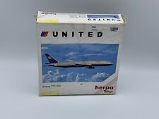 Herpa Wings Boeing 777-200 United Airline, 1:400 Item 560092 Aeroplane Aircraft