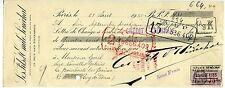 TRAITE 1935 LES FILS D EMILE SENECHAL PARIS  TIMBRE FISCAL