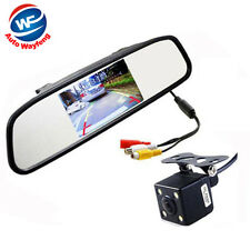 4.3 Digital TFT LCD Mirror Car Parking Monitor + 4 Led Mini Car Rear view Camera
