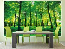Grüne Bäume Wald XXL Fototapete Wanddekoration Wohnzimmer Wandbild