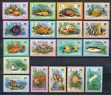 TUVALU 1979 - SEA FISH - 1st SERIES - MNH SET OF 18 STAMPS