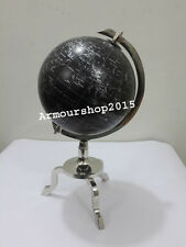 Retro World Globe With Table Base Stand Nautical Authentic Vintage Globe