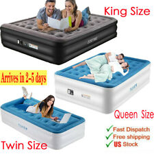 Zoetime King Size Air Mattress Inflatable Bed Airbed with Built-in Electric Pump