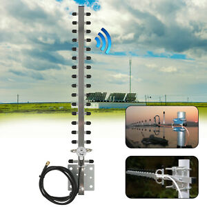 RP-SMA 2.4GHz 25dBi Directional Outdoor Wireless Yagi Antenna WiFi For Router US