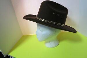 Western Express Brown Western Hat Faux Felt Size Kids