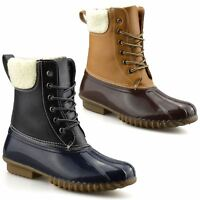Ladies Womens Walking Hiking Waterproof Winter Rain Snow Ankle Boots Shoes Size