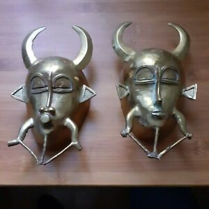 ART-AFRICAIN MASQUES BRONZE FORGERON KPELIE SENOUFO /KOULFO COTE D'IVOIRE