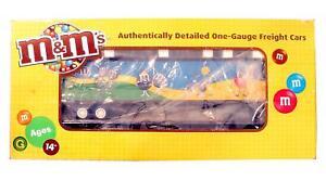 MTH ELECTRIC TRAINS 'G' GAUGE 70-76051 M&M'S FLAT CAR & 45FT TRAILER