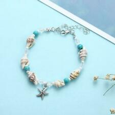 Sandal Anklets Bracelet Beads Ankle R7Y1 Starfish Shell Beach Foot Chain Conch
