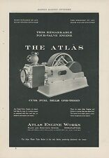 1906 Atlas Engine Works Ad Indianapolis IN Industrial Four Valve Motor