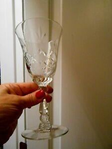 Heisey Crystal Wine Glass Barcelona Stem #3408 Cut #941 Crystal Elegant Pair