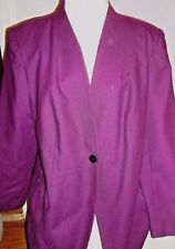 Harve Bernard Womens Retro Maroon Wool Blazer Jacket Sz 16-Very Nice