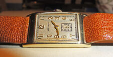 LONGINES 14k SOLID GOLD 1930'S LOVELY SMALLER ART DECO MEN'S OR LADY'S WATCH