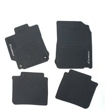 Front & Rear Black All-Weather Rubber Floor Mats Genuine For Camry 12-14