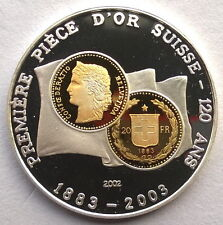 Togo 2003 Coinage 500 Francs Gild Silver Coin,Proof