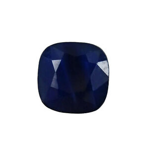 Blue Sapphire Genuine Loose Gemstone Cushion 0.50 ct.