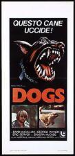 DOGS LOCANDINA CINEMA HORROR DAVID MCCALLUM SANDRA MCCABE 1976 PLAYBILL POSTER