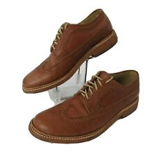 FRYE John A Frye Size 7 B Oxford Leather Shoes Wingtip Brogue Brown Lace Up
