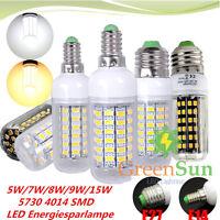 E27 E14 5/7/8/9/15W 5730 4014 SMD LED Bulb Glühbirne Birne Lampe Leuchtmittel
