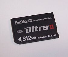 New SanDisk 512MB Ultra II Memory Stick Pro Duo