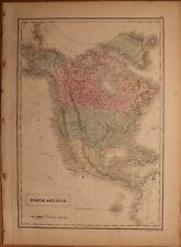 """1856 Black's North America - Map 17.2"""" x 12.6"""" - Antique"""