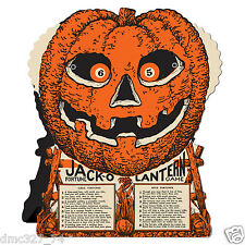 HALLOWEEN Jack O Lantern FORTUNE WHEEL GAME Vintage Beistle 1930 Reproduction
