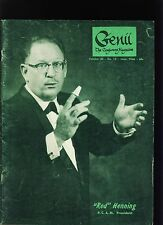Red Henning Pcam Genii Magicians Magazine Jun1966-table of contents scanned