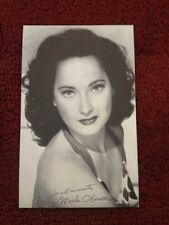 1940/50 VINTAGE MOVIE ARCADE EXHIBIT VENDING CARD RARE MERLE OBERON