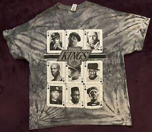 New York Kings Of Rap T-Shirt Gray Hip-Hop DMX Vintage XL