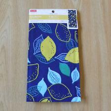 Japanese tenugui towel -- lemons / Le tenugui japonais -- les citrons