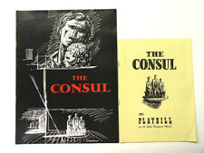 The Consul 1950 Souvenir Program & Playbill Gian-Carlo Menotti, Patricia Neway