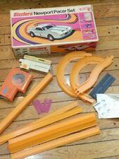 1969 Hot Wheels Sizzlers Newport Pacer Set Extra Orange Track Instructions & Box