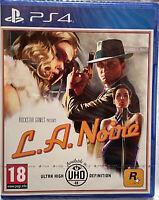 L.A. NOIRE PS4 VIDEOGIOCO EU PLAY STATION 4 ITALIANO GIOCO ROCKSTAR GTA UHD 4K
