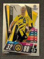 Topps Match Attax Chrome CL 2021 Nr 92 Erling Haaland Borussia Dortmund BVB