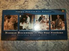Norman Rockwell The Four Freedoms Panoramic 750 Piece Jigsaw Puzzle Complete