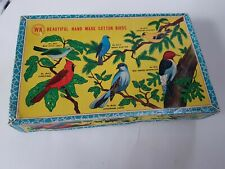Vintage Spun hand made Cotton Robin Christmas Decorations 1960s Birds boxed rare